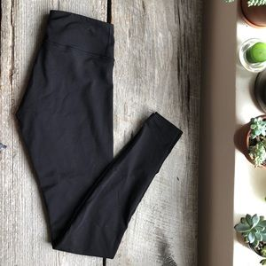 Barely worn black leggings. mid-rise yoga pants